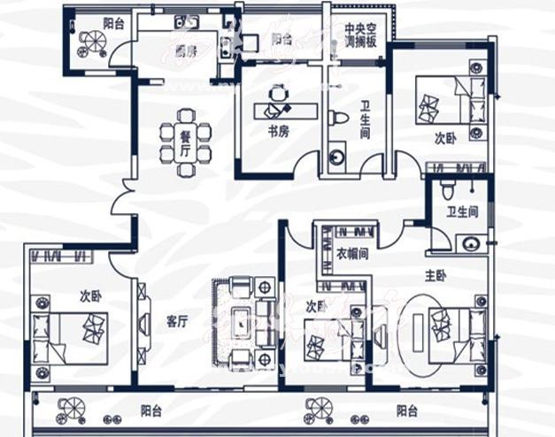 五室两厅两卫215.05/214.57㎡